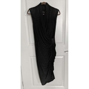 All Saints Little Black Dress with Side Ruching